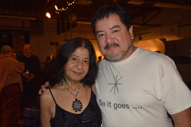 Richard Vargas with Lorna Dee Cervantes