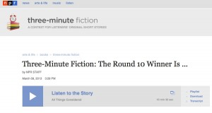 Three-minute fiction